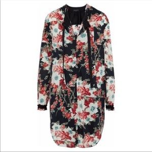 RAG & BONE Cotton Floral Tunic Dress S $375